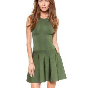 Torn by Ronny Kobo Iliana olive green dress XS